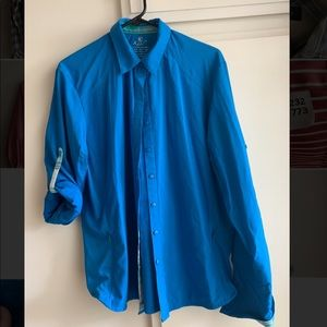Kuhl blue button down
